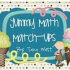 Yummy Math match-ups!
