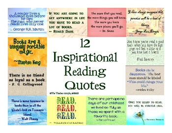 Inspirational Quotes  on 12 Inspirational Quotes For Reading