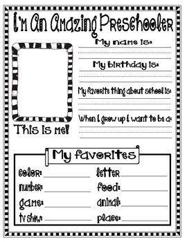 All About Me (Get to know your students)