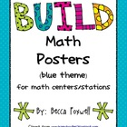 BUILD Math Center Posters (blue)