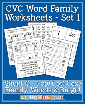 Short O Word Cards http://samuelhall.org/REPORTS/short-o-words