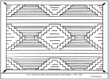 Lesson plan a cooperative study of renaissance for Navajo rug coloring page