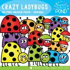 Crazy Ladybugs - FREE Graphics From the Pond