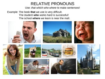 ESL Relative Pronouns Practice