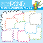 FREE Monday Doodle Frames - Graphics From the Pond