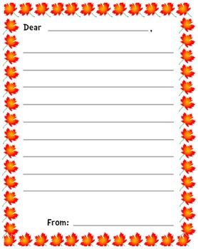 Fall Letter Template http://www.teacherspayteachers.com/Product/If-I-Were-In-The-Military-Writing-Template