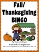 Fall/Thanksgiving BINGO Game