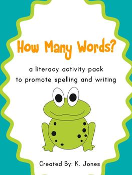 Each worksheet asks students to find different words using the lette.