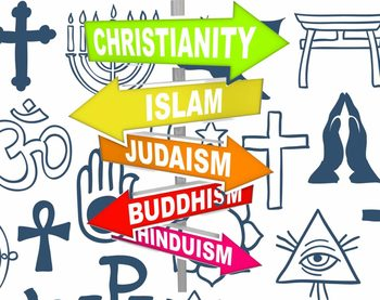 Five Major Religions Of The World Chart Free Printable Religions - Five major religions chart