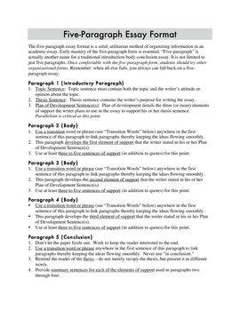 How To Write A Five Paragraph Essay Outline