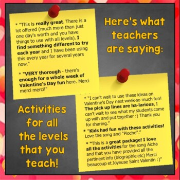 french valentine vocabulary