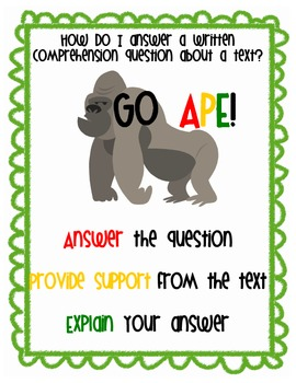 Letter Writing Anchor Chart http://www.teacherspayteachers.com/Product/Go-APE-Writing-Comprehension-BCR-Anchor-Chart