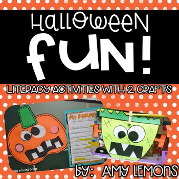 Halloween Craft Ideas  Graders on Halloween Fun   2 Writing Craftivities   8 Ela Activities    Amy