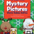 Math Mystery Pictures Winter Holiday Pack (Add, Subtract,