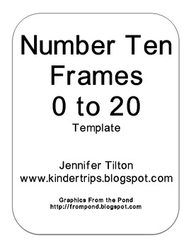 Ten Frame Template http://www.teacherspayteachers.com/Product/Titles-for-Mini-Bulletin-Boards