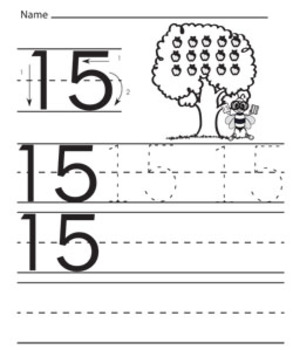 Numbers traceable worksheets