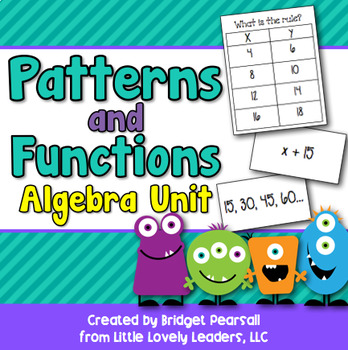 Patterns, Algebra, and Functions