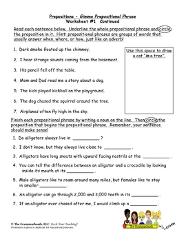 english preposition worksheet for kinder