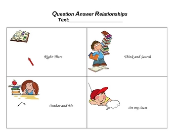 Question Answer Relationships  QAR  TemplateQuestion Answer Relationship Worksheet