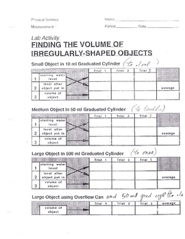find volume irregular shape