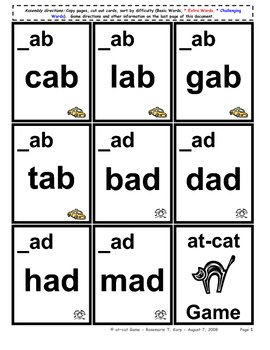 Short O Word Cards http://www.teacherspayteachers.com/Product/Short-O-WORD-FAMILY-Card-Game