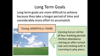 Long and Short-Term Goals