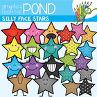 Silly Stars - FREE Clip Art & Line Art for Teachers