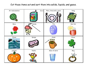 Printables Solid Liquid Gas Worksheet solid liquid or gas lessons tes teach worksheet 1st grade matter mixup drawing solids