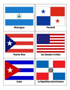 Spanish Speaking Countries Flags http://www.teacherspayteachers.com/Product/Basic-Spanish-1-Vocabulary-Dictionary