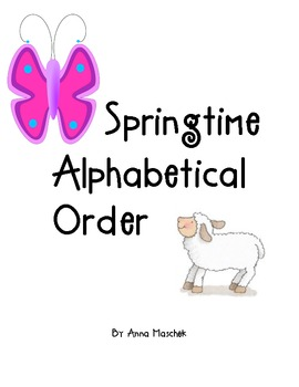 Twelve words for students to alphabetize and a recording sheet.