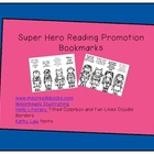 Super Hero Reading Bookmarks