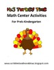 Thanksgiving math center activities for kindergarten -It's