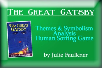 The Great Gatsby Essay Examples