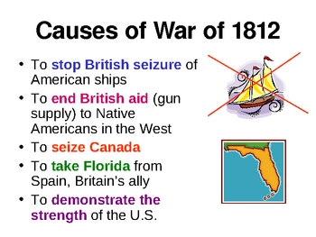 war 1812 essay questions