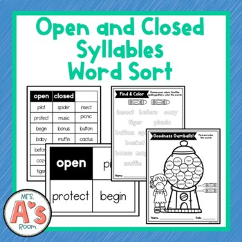 Free Closed Syllable Worksheets Wallpapers Pictures