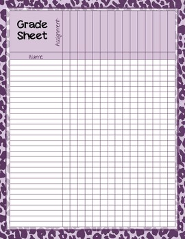 printable grade book sheets